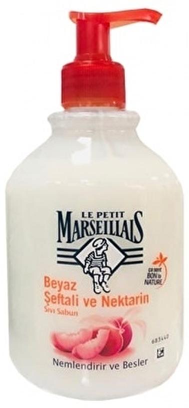 Le Petit Marseilials Le Petit Marseiliais Şeftali ve Nektarin Sıvı Sabun 500 ml Renksiz